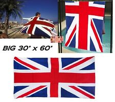 "UNITED KINGDOM Britain UK British Jack FLAG COTTON BATH POOL BEACH TOWEL 30""x60"""