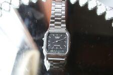 1980er Herren Armbanduhr CASIO  Digital LCD und analoge Zeiger
