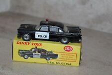 VINTAGE Dinky Toys 258 Dodge royal USA Voiture de police en boîte