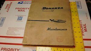 Original 1951 Beechcraft Bonanza Service Manual AIRCRAFT AVIATION VINTAGE V35