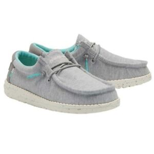 Hey Dude Children's Wally Stretch Grey Shoes 130133160