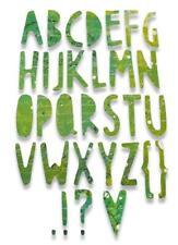 Sizzix Thinlits Die Set 1PK - Paper Cuts Alphabet - 662667