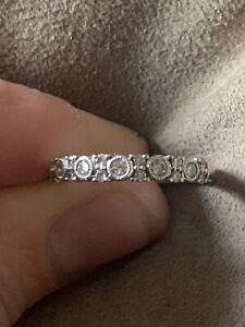 White Gold Diamond Ring Michael Hill Size O