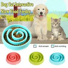 Pet Slow Feeder Bowl Dog Cat Interactive Eating Feed Feeding Dish  Food
