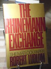 Robert Ludlum, The Rhinemann Exchange, Signed,1st Edition,1st Printing, Like New