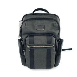 Tumi Alpha Bravo Nellis Laptop Business Casual Backpack Graphite Black Leather