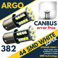44 SMD LED CANBUS ERROR FREE SUPER WHITE 382 1156 BA15S REAR REVERSING BULBS HID