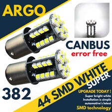 44 SMD LED CANBUS ERROR FREE SUPER WHITE 382 1156 BA15S REAR INDICATOR BULBS HID