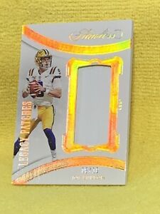 2020 PANINI Flawless Legacy patches Joe Burrow RC/ Patch 6/10 WOW Mint