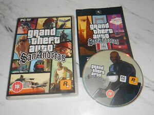 Grand Theft Auto: San Andreas PC DVD ROM - manual inc * SAME DAY DISPATCH *