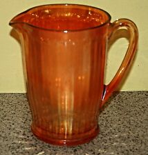 Marigold Carnival Glass Pitcher Depression Glass