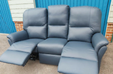 3-seater leather electric recliner sofa