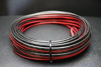 8 GAUGE RED BLACK SPEAKER WIRE PER 25 AWG CABLE POWER GROUND STRANDED COPPER