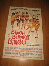 Beach Blanket Bingo Original 1sh Movie Poster '65 Frankie Avalon & Annette