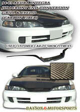 JDM Frontend Conversion Eyelid Grill Trim (Carbon) Fits 94-01 Integra