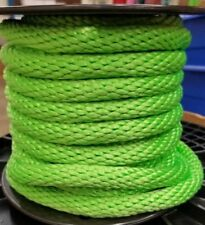 "ANCHOR ROPE DOCK LINE 3/8"" X 100' BRAIDED 100% NYLON LIME MADE IN USA"
