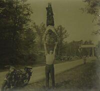 Ginnastica Stunt Foto Stereo PL52P5n26 Placca Da Lente Vintage