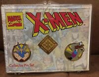 MARVEL COMICS XMEN COLLECTOR PIN SET 1993 WOLVERINE GAMBIT DANGER ROOM