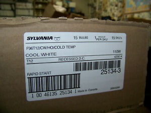 Sylvania Cool White Rapid Start 8 Ft. Bulbs F96T12/CW/HO/Cold Temp 5 cases of15