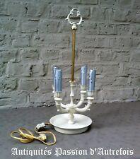 B2018363 - Lampe bouillotte 4 feux - Repeinte couleur crème - Fonctionne