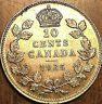 1935 CANADA SILVER 10 CENTS DIME COIN - Close to Uncirculated
