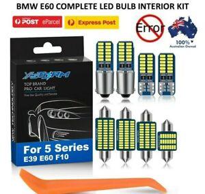 BMW 5 SERIES E60 COMPLETE INTERIOR REPLACEMENT LED BULB KIT 2003 -2010  11PCS