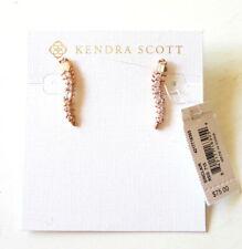 Kendra Scott Sinclair Climbers Rose Gold Tone Crystal CZ Stud Earrings