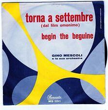 disco 45 GIRI Gino MESCOLI TORNA A SETTEMBRE - BEGIN THE BEGUINE