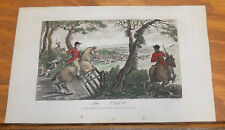 1795 Antique COLOR Fox Hunting Print///IN VIEW by J. Wheble