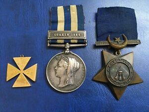Superb 1884 Dated Egypt Medal.Group... +18ct Gold Prize Medal …HMS Euryalus.