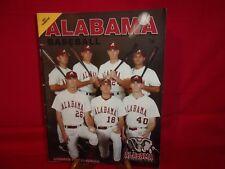 ALABAMA CRIMSON TIDE BASEBALL 2001 YEARBOOK