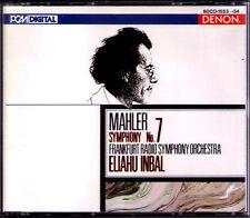 Eliahou Inbal: MAHLER SYMPHONY NO. 7 DENON Giappone 2cd Radio-Filarmonica-Orch Francoforte