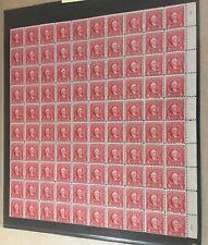#R655 2 cent Documentary internal revenue stamps full mint sheet of 100 MNH OG