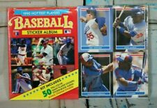 1990 Hottest Baseball Players Sticker Album 50 Full Color Stickers Sealed NIP