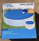Summer Waves Adjustable Pool Cover for 10-15ft Inflatable & Frame Pools IN HAND