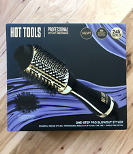 Hot Tools Professional 24k Gold One-Step Salon Blowout Hair Styler Brush NIB