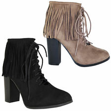 High Heel (3-4.5 in.) Suede Lace Up Shoes for Women