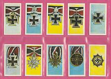 MILITARY  - TONY OLIVER  - RARE SET OF 50 GERMAN ORDERS & DECS. CARDS  -  1963