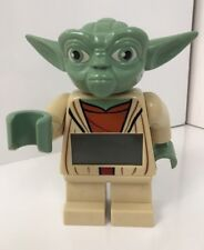 "Lego Star Wars Yoda Alarm Clock Digital 7"" Tall 2014 Tested & Working"