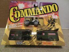 Matchbox Strike Team Commando 3 Piece Set Jeep Recker Truck Van Vehicle Sealed