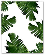 Banana Leaves Print, Tropical Leaf, Banana Leaf Art, 8 x 10 inches, Unframed