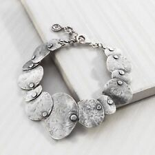 "Silpada Textured Sterling Silver ""Badge of Beauty"" Bracelet B3074 New!"