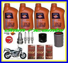 Kit Tagliando HONDA HORNET 600 04 Filtro Aria Olio Candele Pastiglie Freno 2004
