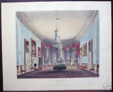 "W. H. Pyne: ""The Dining Room, Frogmore"" 1819 Engraving"
