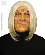 Scary Old Man Mask With White Hair Tribal Leader Halloween Fancy Dress