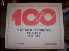 Coke CENTENNIAL 1000 Set 100 Pin Coca Cola LTD BOX