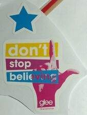 Lot 2pcs GLEE GLEEK DON'T STOP BELIEVING PINK HAND L BLUE STAR MUSIC TV STICKER
