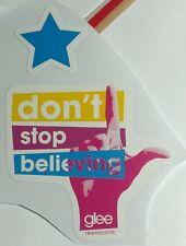 Lot 2pcs GLEE GLEEK DON'T STOP BELIEVING PINK HAND L BLUE STAR MUSIC TV STICKER