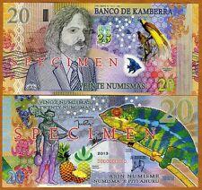SPECIMEN, Kamberra, 20 Numismas, 2013, UNC > Commemorative > Spectacular