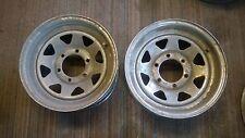 6 Six Chrome wagon wheel style wheels 15x6 6 lug Chevy Trailer rims